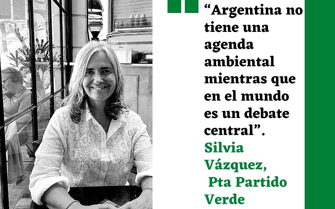 Silvia Vazquez, presidenta del Partido Verde
